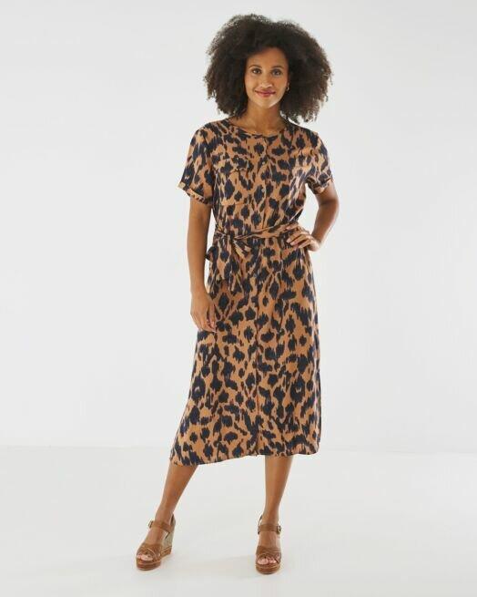 ΓΥΝΑΙΚΕΙΟ MEXX DRESS XC0610013W 181142 Brown With Print