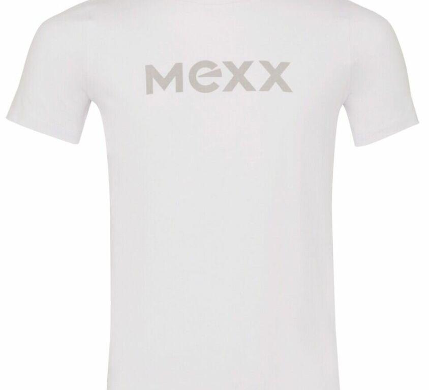 White T-shirt with Mexx logo ZZK2189013B WHITE